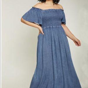 Maxi dress denim look 1X